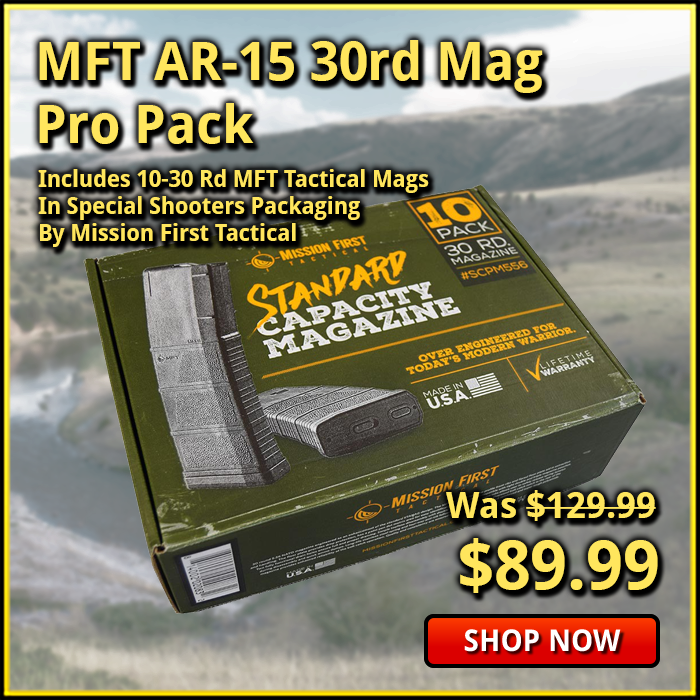 MFT AR-15 30 Round 10 Mag Pro Pack Shooters Package