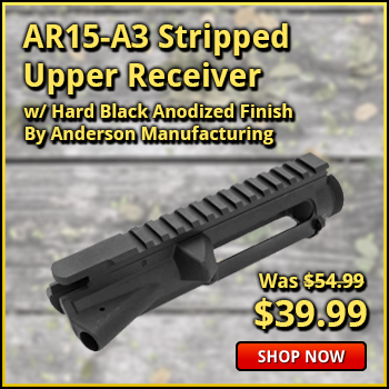 Anderson AR15-A3 Stripped Upper Receiver, Mil Spec, W / Hard Black Anodized Finish - New