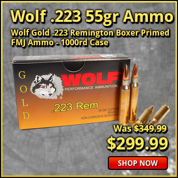 Wolf Gold .223 55gr Premium Grade FMJ Ammo