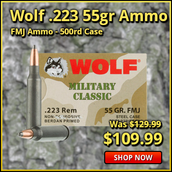 Wolf Military Classic .223 55gr FMJ Ammo