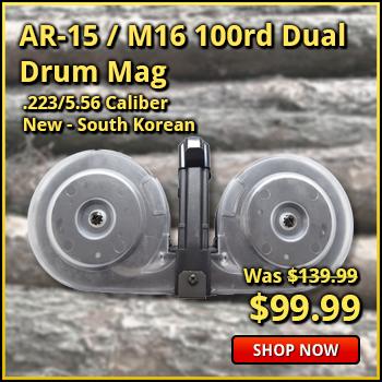 AR-15 / M16 100 Round Dual Drum